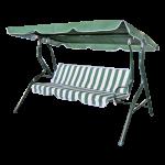 Šūpuļdīvāns 3-vietīgs 170x110x153 cm