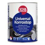 Gruntējuma krāsa metālam Vivacolor Universal Korrostop Matēta Pelēka 1L