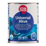 Ūdens bāzes krāsa kokam un metālam Vivacolor Universal Akva Matēta A-bāze 0.9L
