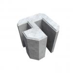 Pasētas stūra betona stiprinājums 30x16.5x22 cm