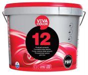 Krāsa sienām Vivacolor 12 Pusmatēta A-bāze 9L