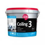 Krāsa griestiem Vivacolor Ceiling 3 Pilnīgi matēta AP-bāze 9L