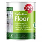 Krāsa grīdām Vivacolor Green Line Floor Pusmatēta A-bāze 0.9L