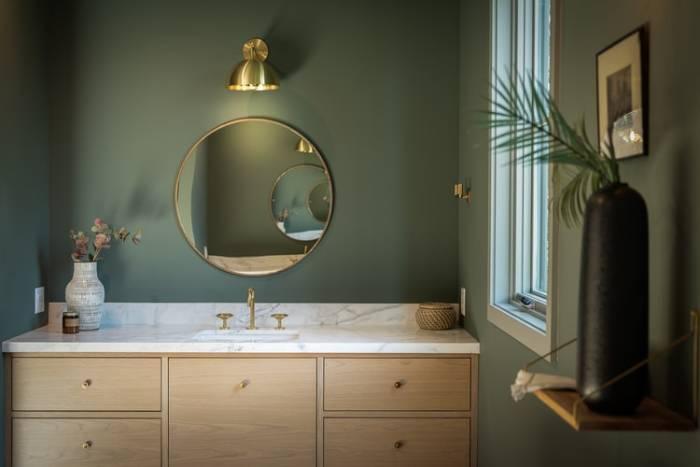 Vannas istaba zaļa